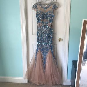 Gorgeous Sherri Hill gown with lace and sequins.